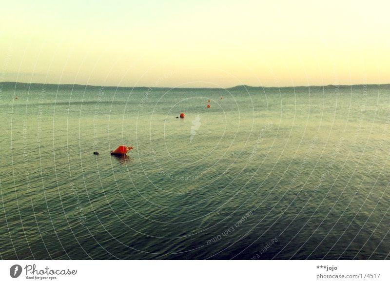 sehnsucht. Himmel Wasser schön Sommer Strand Ferien & Urlaub & Reisen ruhig Ferne Erholung Freiheit Landschaft Küste See Wellen nass Horizont