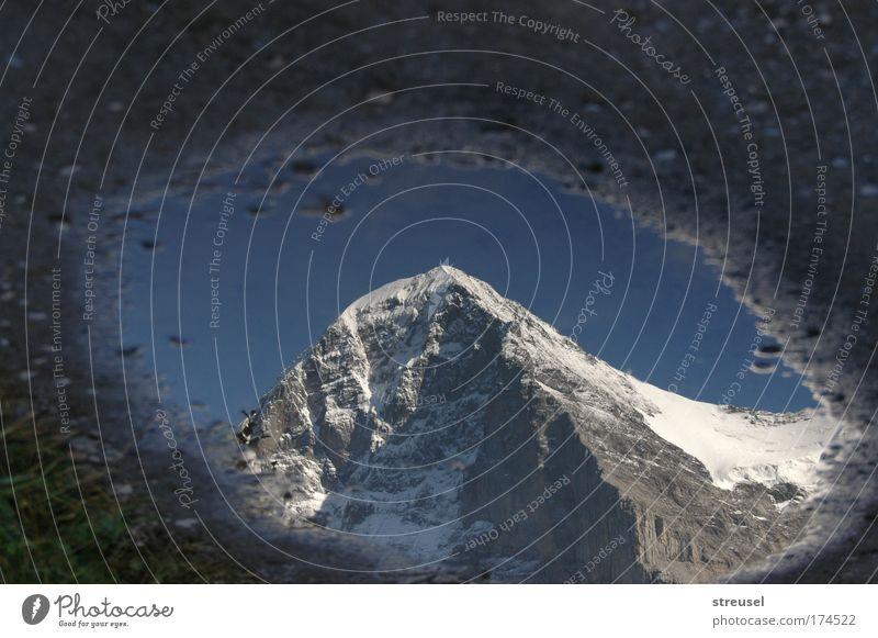 bergsteigen Natur Urelemente Erde Himmel Schönes Wetter Schnee Felsen Alpen Berge u. Gebirge Eiger Nordwand Schweiz Gipfel Schneebedeckte Gipfel Stein Wasser