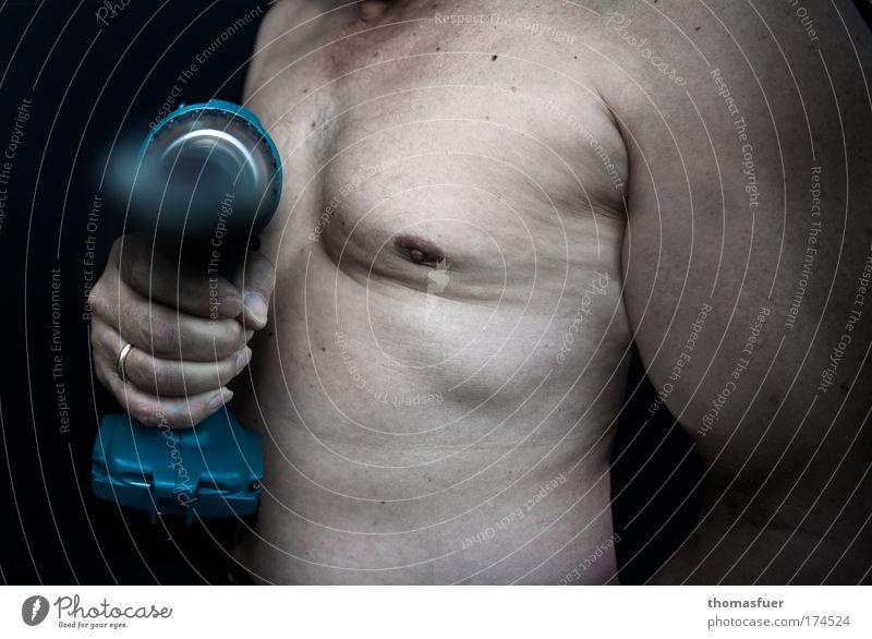Manpower II Mensch Mann Hand Arbeit & Erwerbstätigkeit nackt Kraft dreckig Erwachsene maskulin Industrie Fabrik authentisch Baustelle Brust