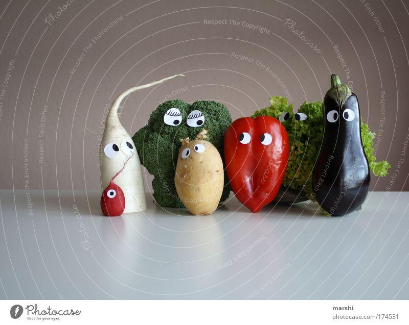 Fleisch ist mein Gemüse Freude Auge Leben Ernährung Gefühle Gastronomie Lebensmittel Mensch Gesicht Gesundheit lustig Wohnung Gemüse Restaurant Kohl lecker