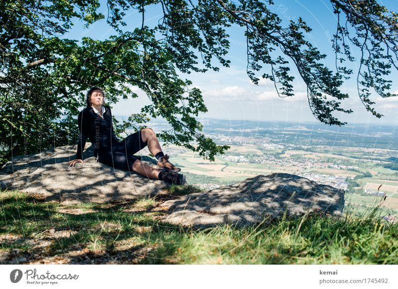 #thegoodlife Mensch Himmel Natur Sommer Erholung ruhig Berge u. Gebirge Wärme Leben Lifestyle feminin Freiheit Felsen Ausflug Freizeit & Hobby Zufriedenheit