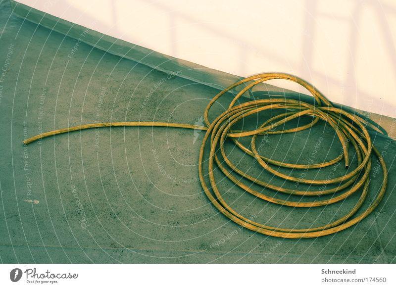 So eine Schifffahrt die Schlaucht Wasser weiß gelb Wand Mauer Raum Dekoration & Verzierung Müdigkeit Handwerk Fernweh Leitung Fähre schlangenförmig