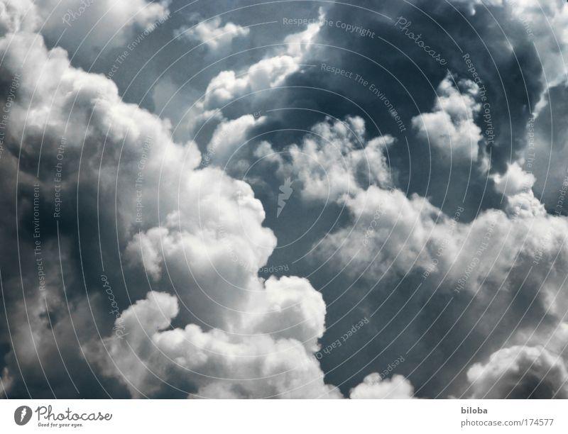 Wir fliegen durch eine kleine Wolke... Wolken Gewitter Gewitterwolken Wetter Sturm Umwelt Klima Klimawandel Himmel Tag Schatten Kontrast Silhouette