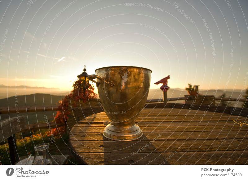 goldener kral Himmel Natur Ferien & Urlaub & Reisen Sonne Berge u. Gebirge Herbst Horizont Stimmung Wetter wandern Design Tourismus Ausflug Zukunft Idylle
