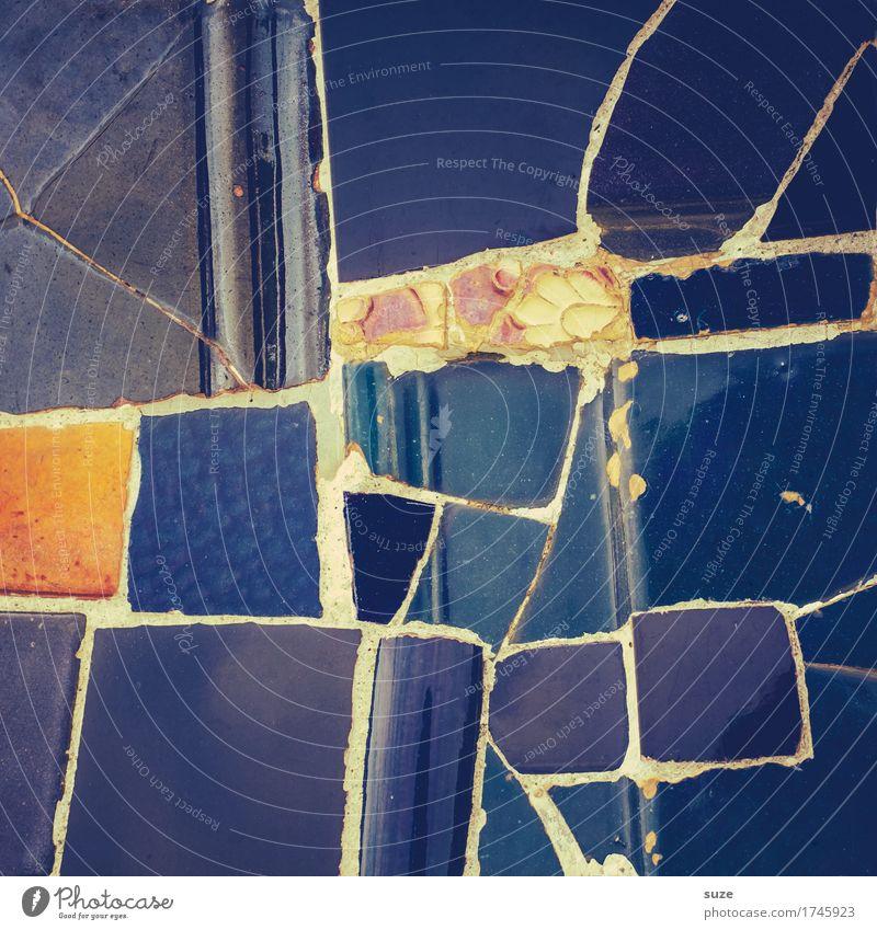Maritimsphäre alt blau Architektur Wand Innenarchitektur Hintergrundbild Stil Kunst Stein Design Dekoration & Verzierung Ordnung ästhetisch Kreativität