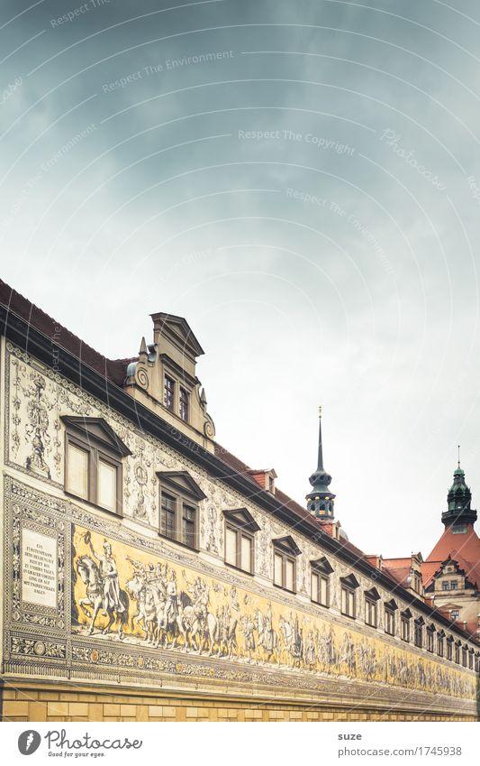 Fürstenzug Tourismus Städtereise Kunstwerk Kultur Stadt Stadtzentrum Altstadt Platz Bauwerk Gebäude Architektur Mauer Wand Fassade Sehenswürdigkeit Wahrzeichen