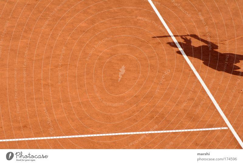 Gegenspieler Mensch rot Sport Spielen Gefühle Sand Linie Freizeit & Hobby Ball Spielfeld Leidenschaft sportlich Sportveranstaltung Sportler Tennis Begeisterung