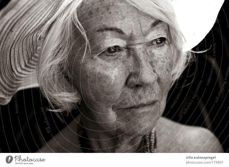 bovary Mensch schön alt ruhig Senior feminin Porträt beobachten Vergänglichkeit Großmutter Gelassenheit Vorsicht Weisheit geduldig Großeltern 60 und älter