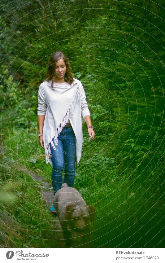 Julia | Waldspaziergang Freizeit & Hobby Ausflug wandern Mensch feminin Junge Frau Jugendliche 1 18-30 Jahre Erwachsene Umwelt Natur Landschaft Baum Gras