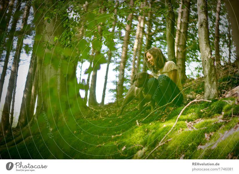 Julia | am Steinbruch Freizeit & Hobby Ausflug Abenteuer Mensch feminin Junge Frau Jugendliche 1 18-30 Jahre Erwachsene Umwelt Natur Landschaft Sommer Baum Wald