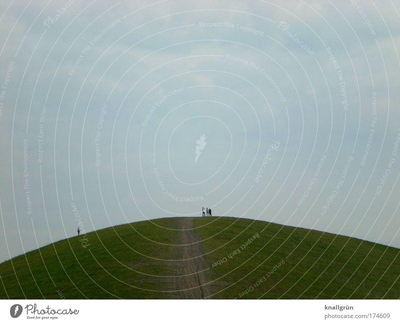 Der Tag, als ich nicht auf den Hügel stieg... Mensch Himmel Natur Mann blau weiß grün Sommer Freude Wolken Erwachsene Erholung Landschaft Berge u. Gebirge