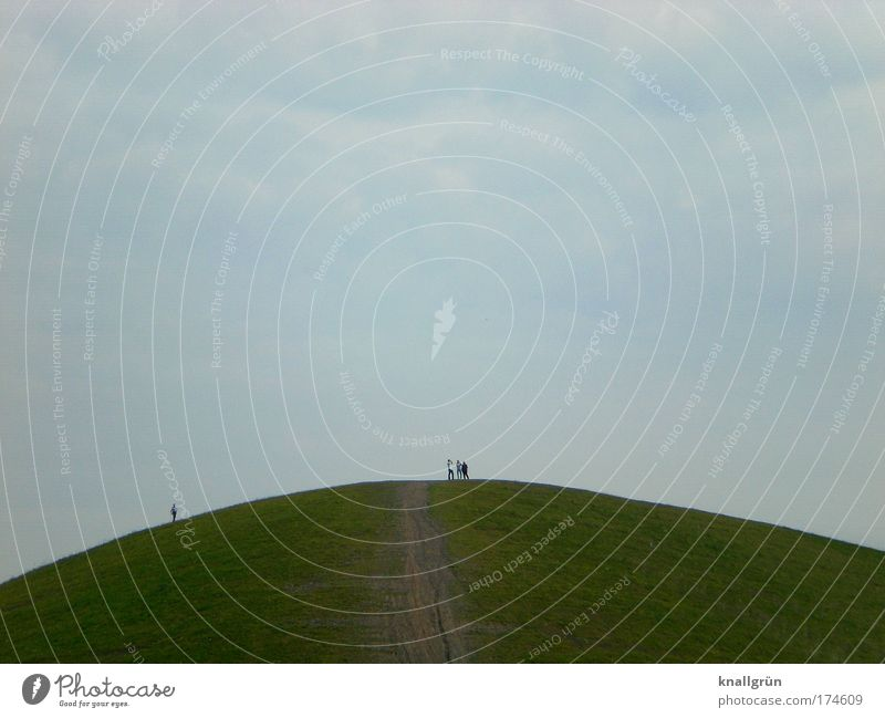 Der Tag, als ich nicht auf den Hügel stieg... Mensch Himmel Natur Mann blau weiß grün Sommer Freude Wolken Erwachsene Erholung Landschaft Berge u. Gebirge Bewegung Freundschaft