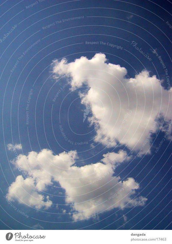 clouds schön Himmel blau Sommer Wolken Luft Wetter