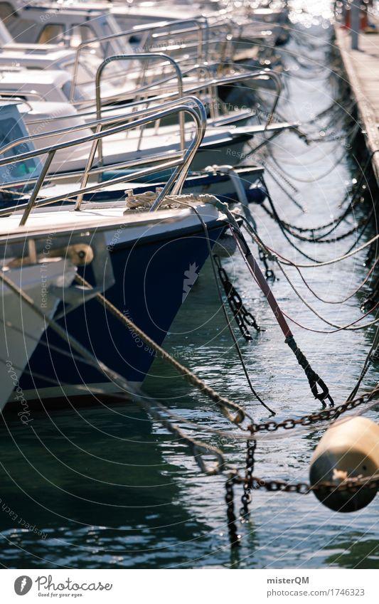 angelegt. Sommer Kunst Wasserfahrzeug ästhetisch Sommerurlaub Schifffahrt Reichtum Kunstwerk sommerlich Jacht ankern Schiffsbug Schiffsdeck Urlaubsfoto