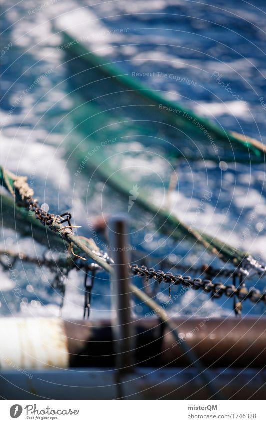 Fischerei. Kunst Natur Wasser ästhetisch Fischereiwirtschaft Fischerboot Fischernetz Netz Meer Hochsee Hochseefischer Farbfoto mehrfarbig Außenaufnahme