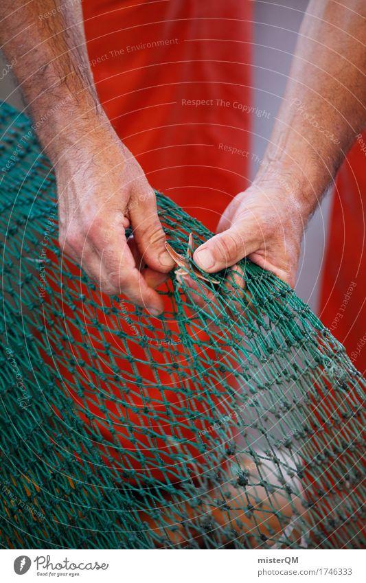 little star. Kunst ästhetisch Fischereiwirtschaft Fischerboot Fischernetz Fischereihafen Seestern Fangnetz fangen Fangquote Farbfoto Gedeckte Farben