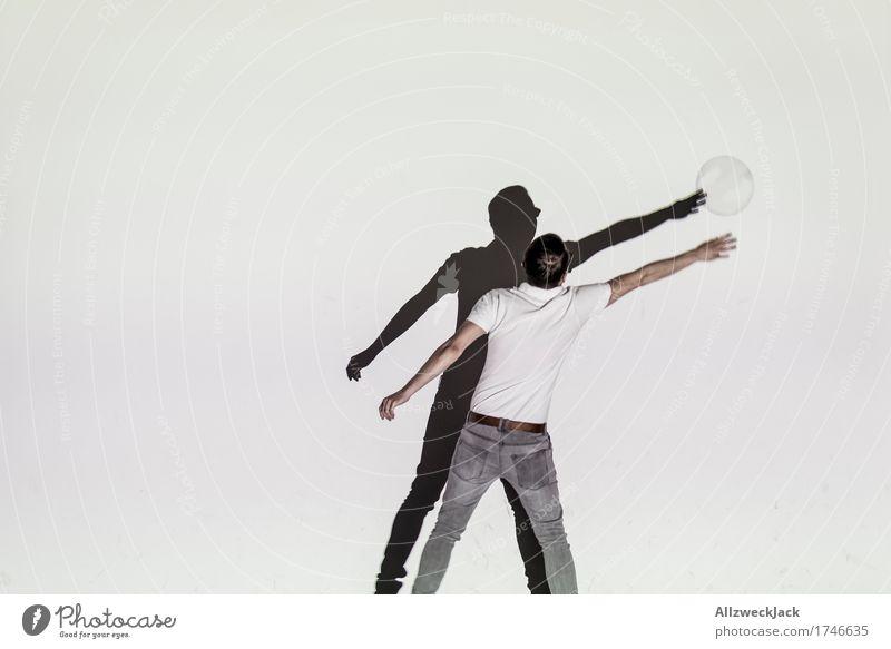 Schattenballett 4 Freude Freizeit & Hobby Spielen maskulin Junger Mann Jugendliche Erwachsene 1 Mensch 18-30 Jahre 30-45 Jahre Lebensfreude Bewegung x springen