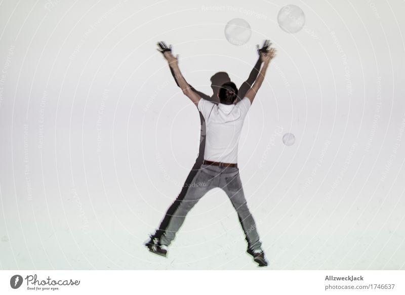 Schattenballett 12 sportlich Fitness Leben Spielen Tanzen Sport-Training maskulin Junger Mann Jugendliche Erwachsene Mensch 18-30 Jahre 30-45 Jahre fallen