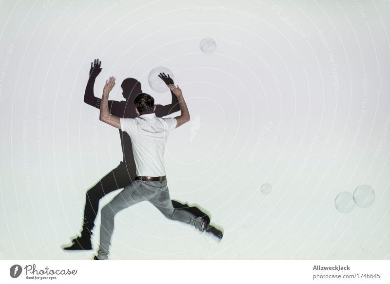 Schattenballett 2 Freizeit & Hobby Spielen maskulin Junger Mann Jugendliche Erwachsene 1 Mensch 18-30 Jahre 30-45 Jahre Freude Lebensfreude Bewegung x springen