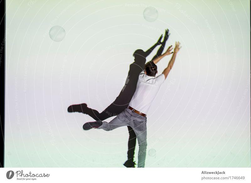 Schattenballett 3 Freude Freizeit & Hobby Spielen maskulin Junger Mann Jugendliche Erwachsene 1 Mensch 18-30 Jahre 30-45 Jahre Lebensfreude Bewegung x springen