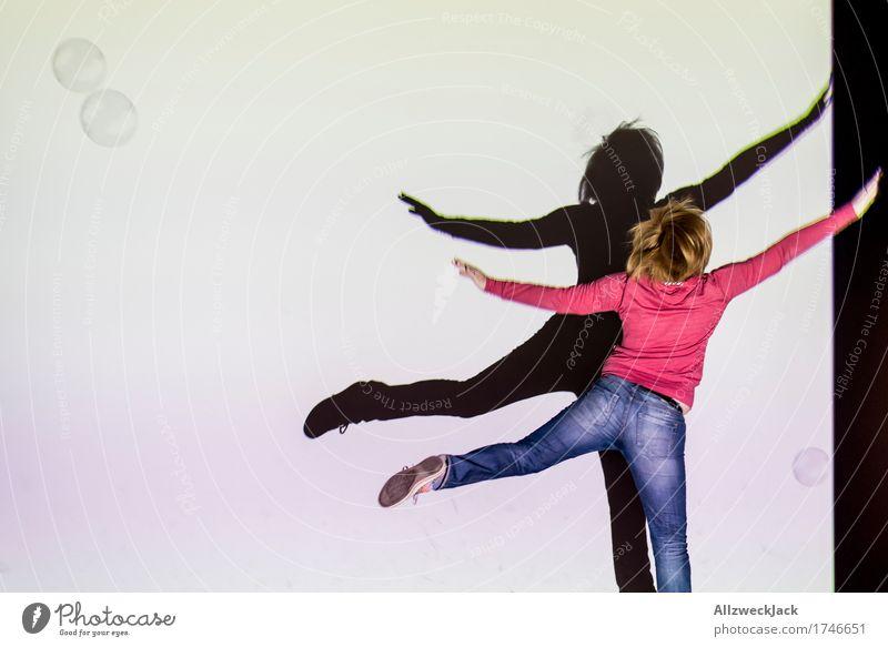 Schattenballett 6 Freude Freizeit & Hobby Spielen Tanzen feminin Junge Frau Jugendliche Erwachsene 1 Mensch 18-30 Jahre Kunst Theaterschauspiel Bühne