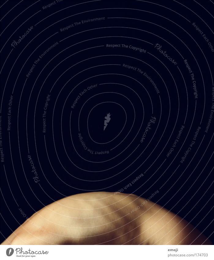 bowing Farbfoto Gedeckte Farben Studioaufnahme Detailaufnahme Akt Textfreiraum oben Hintergrund neutral Profil feminin Haut Rücken 1 Mensch außergewöhnlich dünn