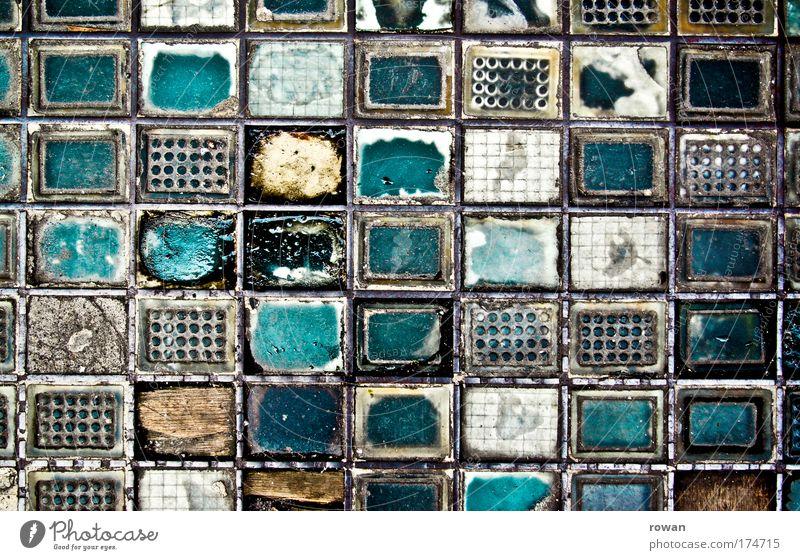 einreihen abstrakt alt Stein Kunst dreckig Glas Beton Ordnung Eisen kaputt Wandel & Veränderung Vergänglichkeit Teile u. Stücke Stahl Rost Reihe