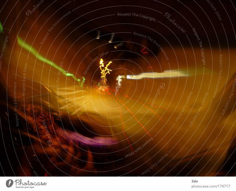 Tunnelfahrt Farbfoto mehrfarbig Außenaufnahme Experiment Menschenleer Nacht Kunstlicht Lichterscheinung Langzeitbelichtung Bewegungsunschärfe Verkehr