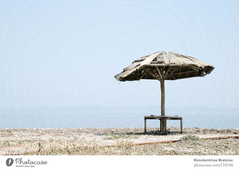 Crusoe was here alt blau Ferien & Urlaub & Reisen Sommer Meer Strand schwarz Erholung Wärme Sand hell braun Tourismus Insel heiß Schönes Wetter