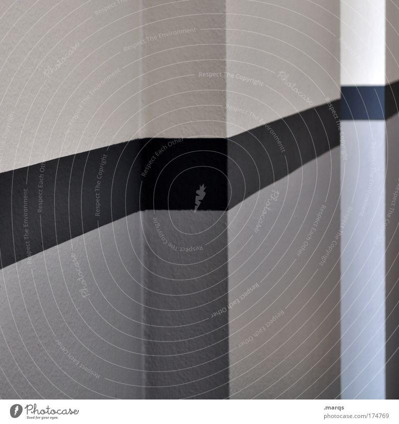 - Gedeckte Farben Innenaufnahme abstrakt elegant Stil Design Innenarchitektur Gebäude Architektur Mauer Wand Linie Streifen eckig einfach Sauberkeit grau