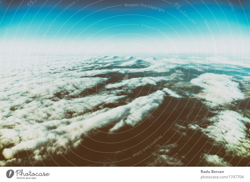 Earth Horizon Photo Von 35.000 Fuß Höhe Ferien & Urlaub & Reisen Ausflug Abenteuer Freiheit Expedition Sommer Umwelt Natur Landschaft Erde Luft Himmel Wolken
