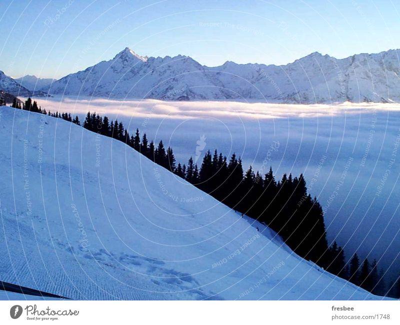 alpenlandschaft Nebel Alpen Berge u. Gebirge blau