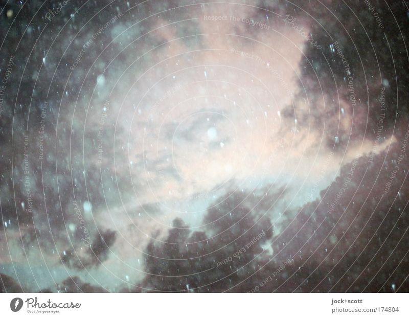 Sturm und Drang blau Wärme Bewegung Gefühle grau fliegen Stimmung rosa Regen leuchten Wind Wassertropfen nass fantastisch Wandel & Veränderung Romantik