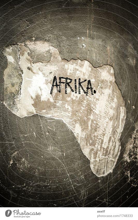 Afrika Ferien & Urlaub & Reisen Ferne schwarz Wand Mauer außergewöhnlich Freiheit Erde braun Fassade Tourismus träumen Schriftzeichen authentisch einzigartig