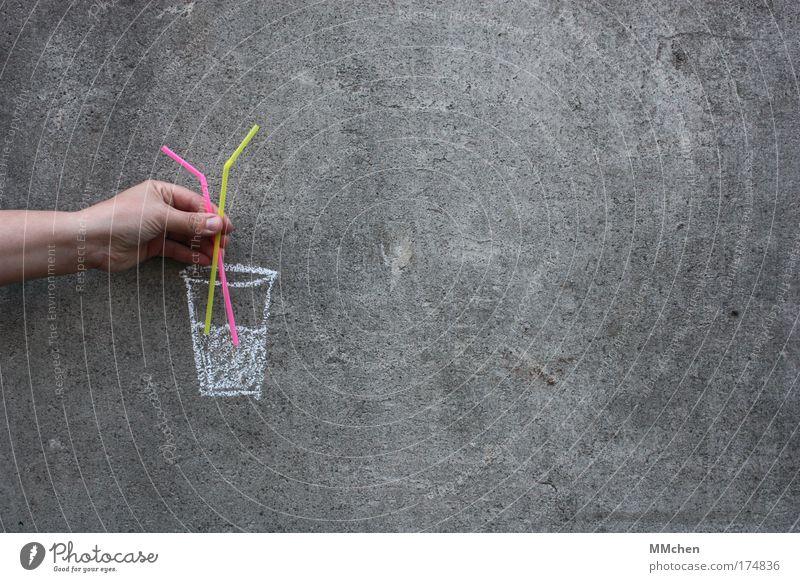 trink´doch einen mit gelb kalt grau Eis Glas rosa Gesang Wasser Trinkwasser Getränk trinken Cocktail Alkohol Doppelbelichtung Erfrischung Täuschung