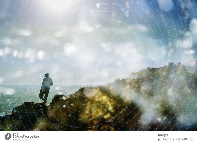 Scheinwelt Ferien & Urlaub & Reisen Tourismus Ausflug Abenteuer Ferne Freiheit Sightseeing Sommer Sommerurlaub Strand Meer Insel Wellen Mensch maskulin Mann
