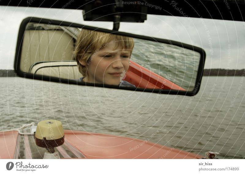 Volle Kraft voraus! Mensch Kind Jugendliche Meer Sommer Strand Erholung Junge Kopf Haare & Frisuren Kindheit Wellen Freizeit & Hobby Ausflug maskulin Abenteuer