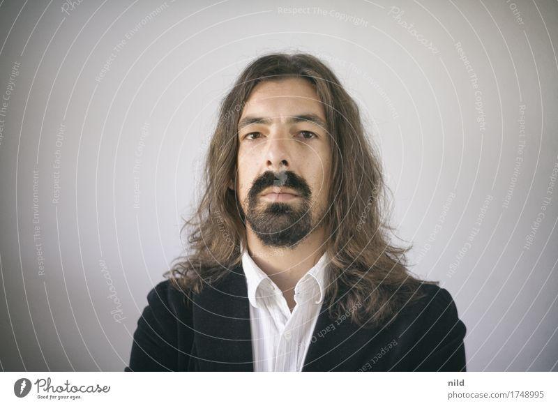 Haariges Portrait Mensch Jugendliche Mann Junger Mann 18-30 Jahre Erwachsene Business Kopf Haare & Frisuren Arbeit & Erwerbstätigkeit maskulin Behaarung elegant