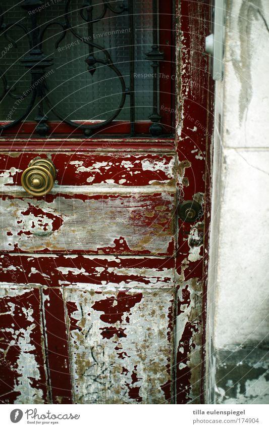 rue polain alt rot Haus Farbe Tür authentisch einzigartig Paris Frankreich stagnierend