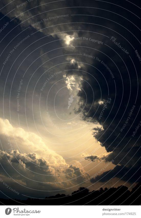 Sommer 2009 Natur Himmel Sonne Wolken dunkel Luft Angst Wind Wetter gefährlich bedrohlich Klima wild Wut