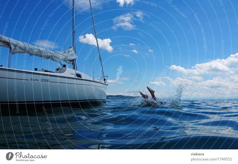 Ferien!! Mensch Frau Kind Ferien & Urlaub & Reisen Mann blau Sommer Meer Erholung Freude Erwachsene Umwelt Leben Sport Glück Schwimmen & Baden