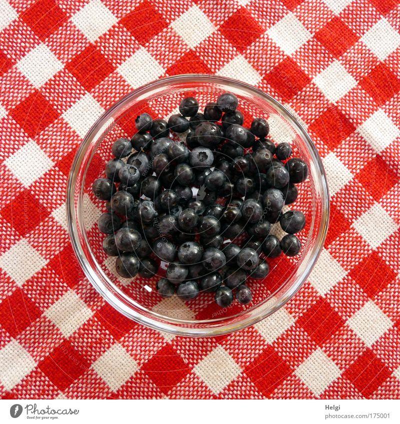 hmmmm... Blaubeeren... weiß blau rot Sommer Ernährung Gesundheit klein Glas Lebensmittel Frucht frisch süß rund Geschirr lecker Appetit & Hunger