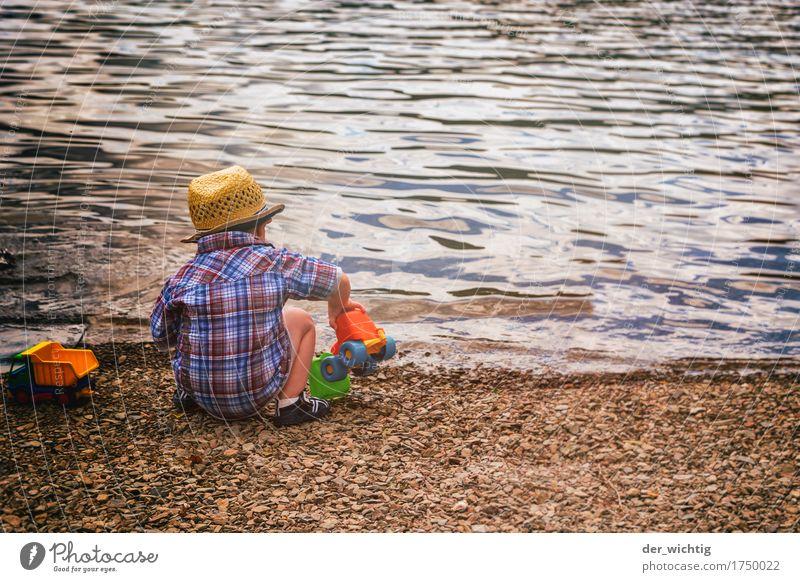Strandspiel(zeug) Mensch Kind Ferien & Urlaub & Reisen Sommer Wasser Sonne Meer Erholung Wärme Junge Spielen See Wellen Körper Kindheit
