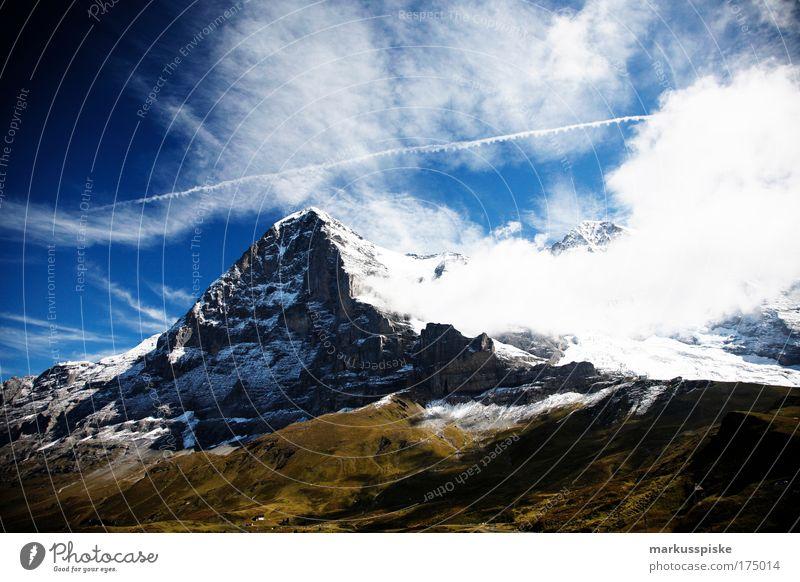 eiger nordwand Natur Pflanze Sonne Sommer Schweiz Ferien & Urlaub & Reisen Ferne Freiheit Berge u. Gebirge Landschaft Ausflug Felsen Klettern Tourismus Sportler