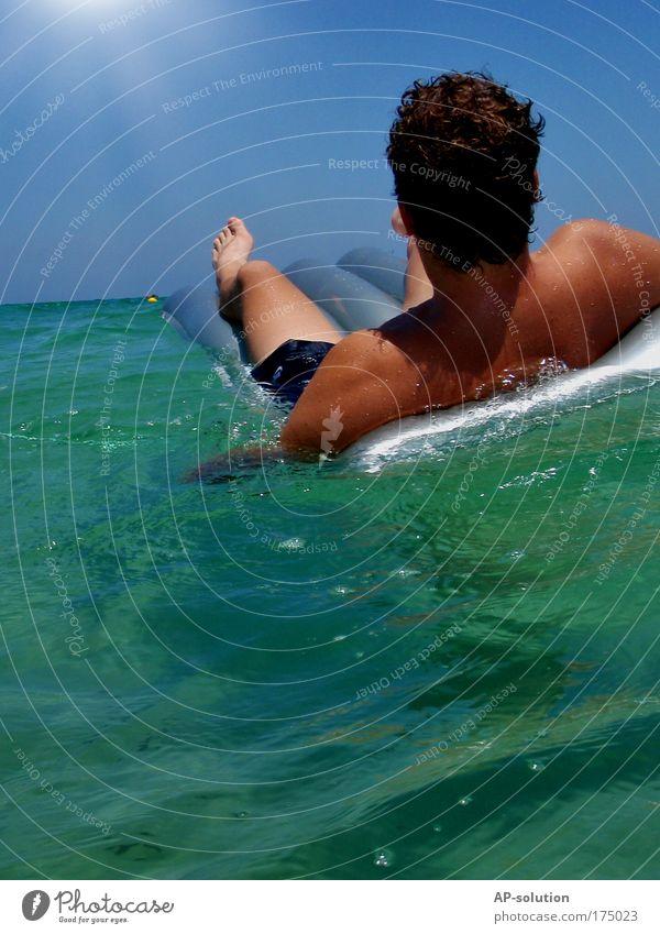 RELAX 2 Himmel Wasser Sonne Ferien & Urlaub & Reisen Meer Sommer Freude Erholung Wellen Horizont Zufriedenheit Freizeit & Hobby Rücken Haut nass Schwimmen & Baden
