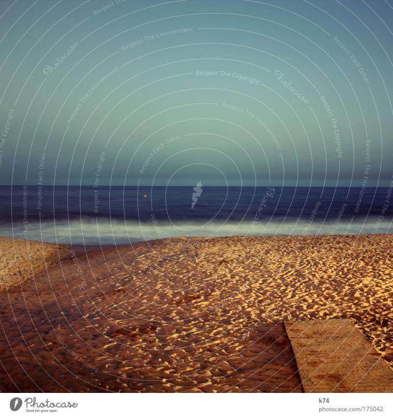 maybe tomorrow Farbfoto Gedeckte Farben Außenaufnahme Abend Dämmerung Nacht Umwelt Natur Landschaft Sand Luft Wasser Himmel Horizont Sonnenaufgang