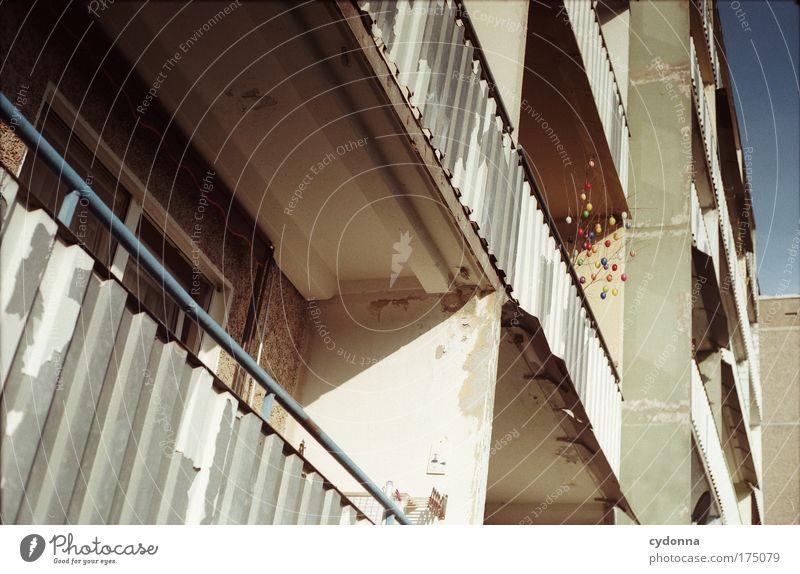 Ostern im Osten Farbfoto Außenaufnahme Detailaufnahme Menschenleer Tag Schatten Kontrast Sonnenlicht Froschperspektive Häusliches Leben Wohnung