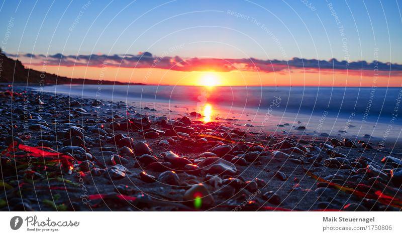 ....Sunset elegant Ferien & Urlaub & Reisen Ferne Sommer Sonne Strand Meer Kunst Umwelt Landschaft Sand Wasser Himmel Nachthimmel Horizont Sonnenaufgang