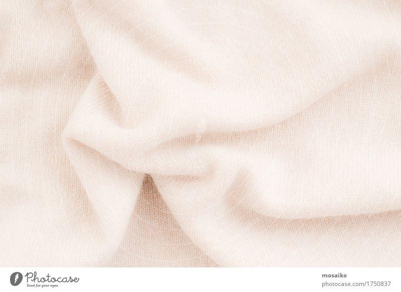 weicher Stoff aus Wolle Lifestyle elegant Stil Design Herbst Mode Bekleidung Pullover trendy Hintergrundbild beige Material Textilien Schal Wärme kuschlig