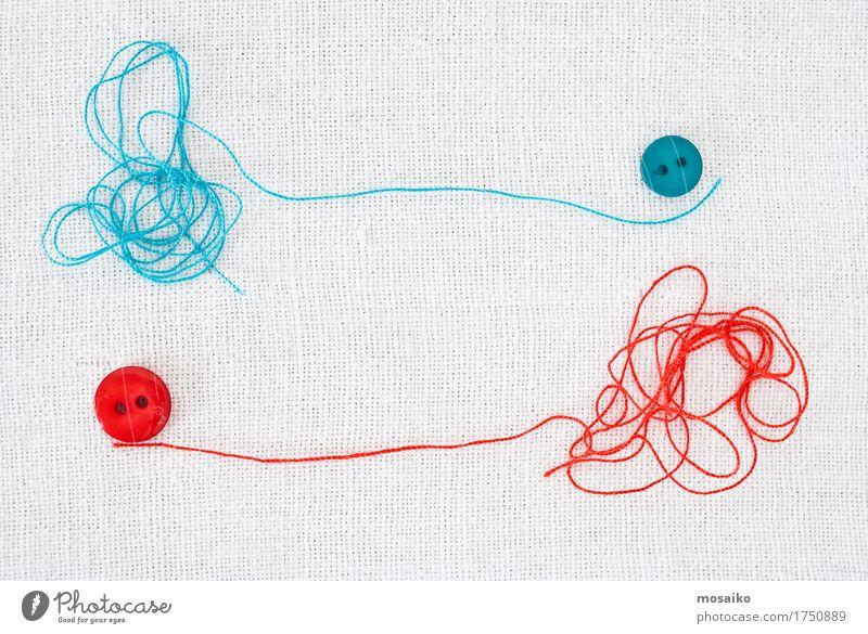 Fäden und Knöpfe Stil Design Freizeit & Hobby Arbeit & Erwerbstätigkeit Dienstleistungsgewerbe Mode Bekleidung blau rot weiß Zufriedenheit Idee Inspiration